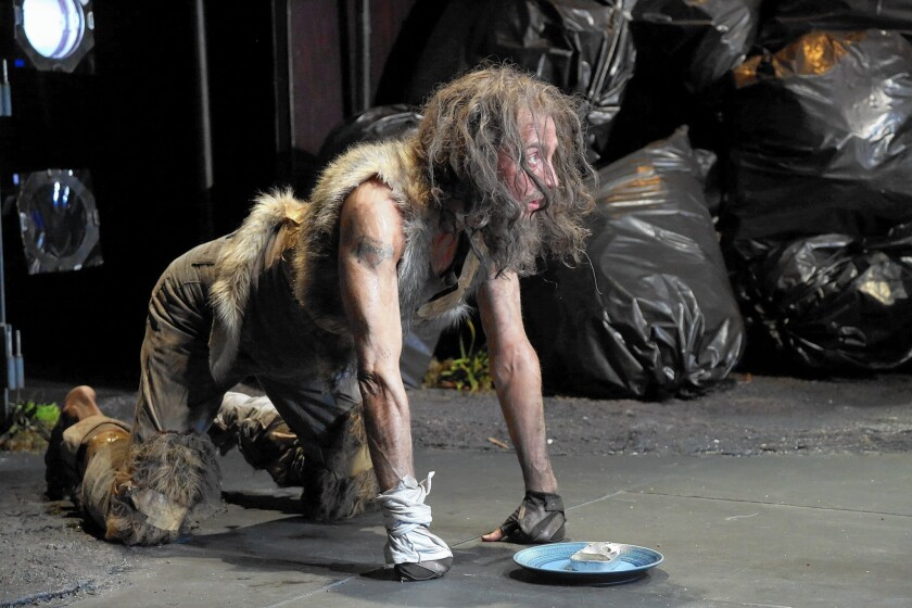 """John Kelly as dog-man prince in the L.A. Opera's """"Dog Days."""""""
