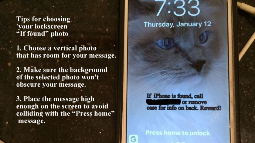 """Put your """"if found"""" info on your phone's lockscreen to help ensure its safe return."""