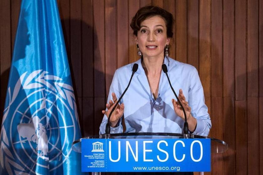 La directora general de la Unesco, Audrey Azoulay. EFE/Archivo