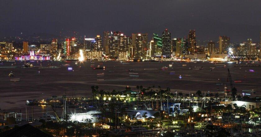 The downtown San Diego skyline.