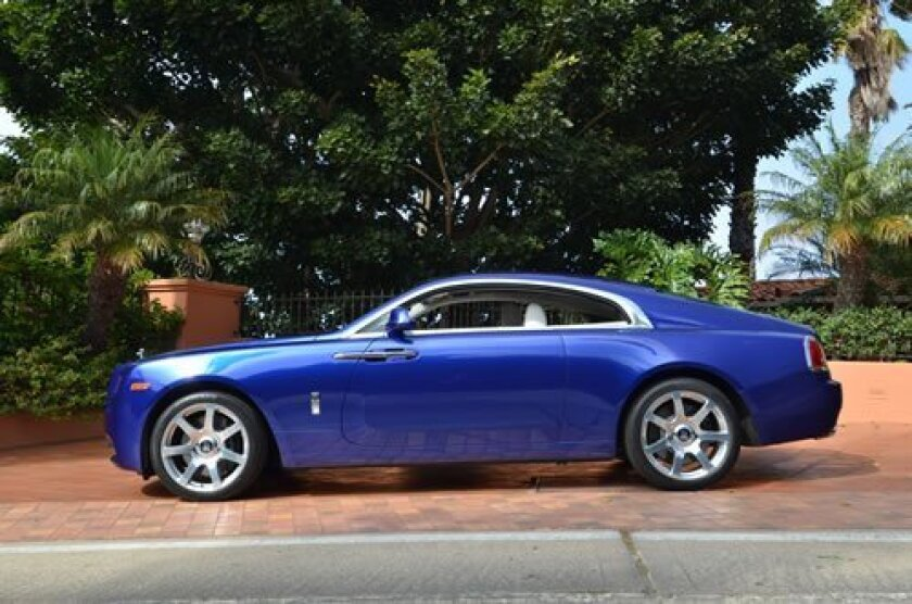 The 2014 Rolls Royce Wraith coupe is available to test drive at Symbolic Motors, 7440 La Jolla Blvd. in La Jolla, and call (858) 454-1800. (Courtesy Photo)