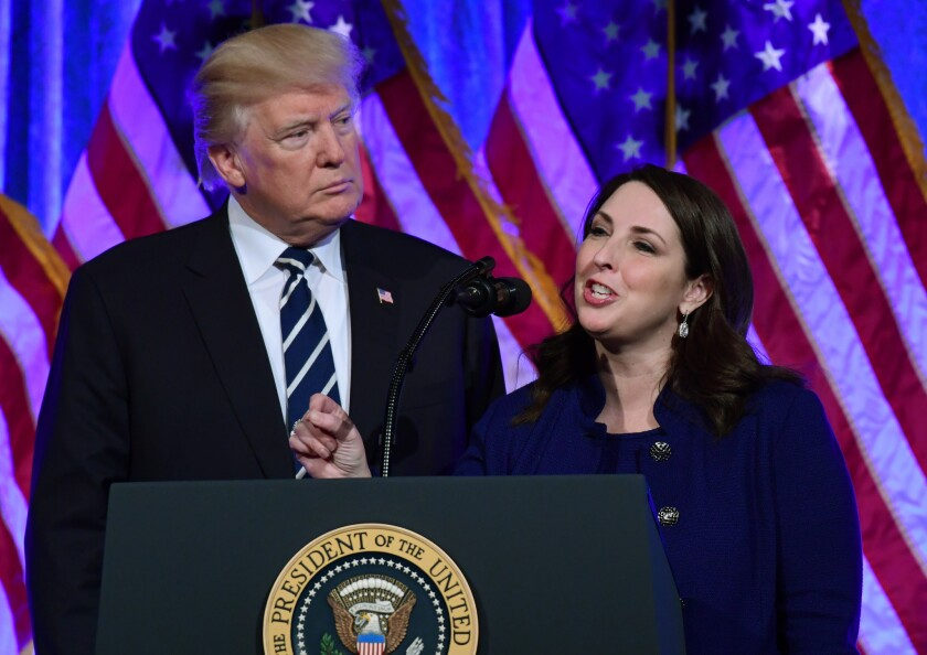 Donald Trump and Ronna Romney McDaniel