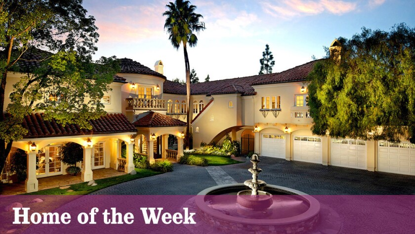 The Mediterranean-style home at 10550 Fontenelle Way, Los Angeles, is listed at $17.8 million.