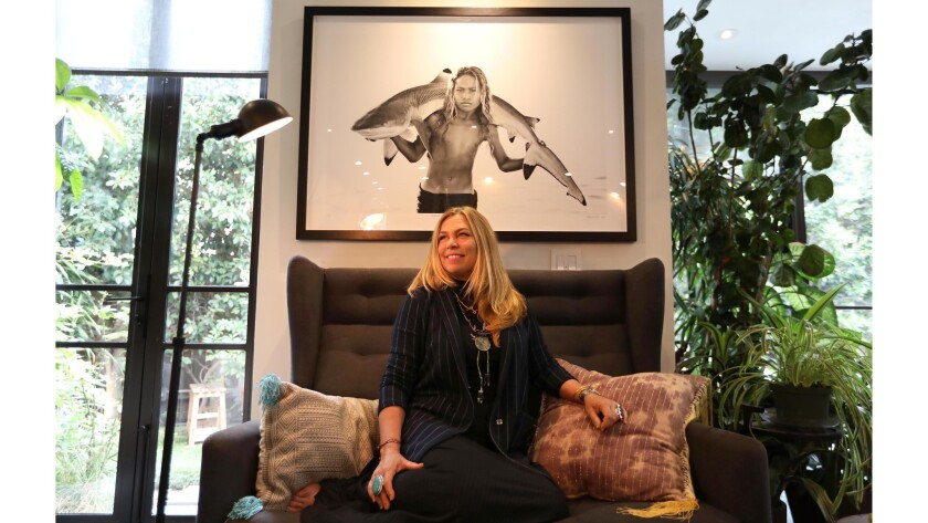 MARINA DEL REY, CA - OCTOBER 3, 2018 - Builder and designer Kim Gordon at her home in Marina Del Re