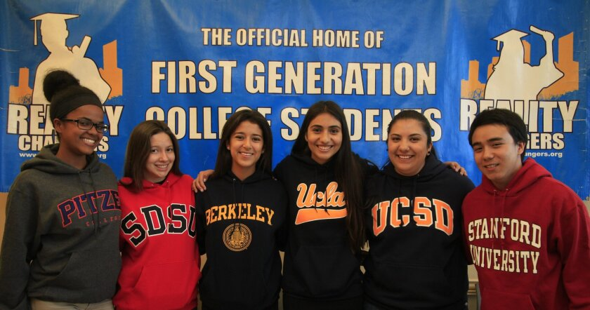 Reality Changer participants and Gates Scholarship winners from left, Hiwet Weldeselase, Frieda Durazo, Tania Barajas, Stephanie Bueno, Lesley Guarena and Darian Martos.