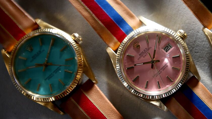 Colorful faces give old watches new life.