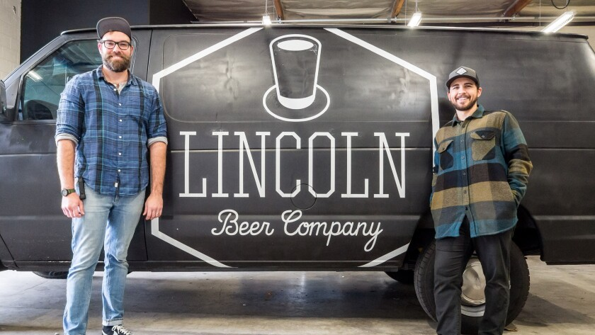 Patrick Dunn and Ryan Lipson of Lincoln Beer Co.
