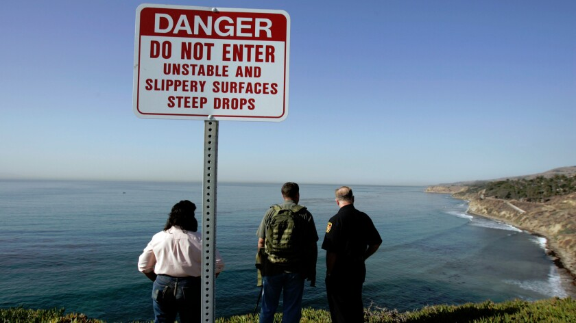 Two found dead at the base of seaside cliffs in San Pedro