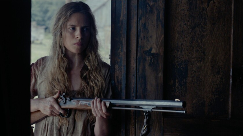 """Brit Marling in a scene from """"The Keeping Room,"""" which has its world premiere as part of the 2014 Toronto International Film Festival."""