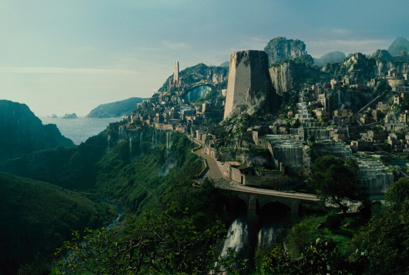 Themyscira, home of the Amazons and Wonder Woman's homeland.