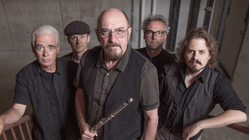 Jethro Tull founder Ian Anderson, center, is on tour with the Ian Anderson Band on the extended 50th anniversary tour of Jethro Tull.