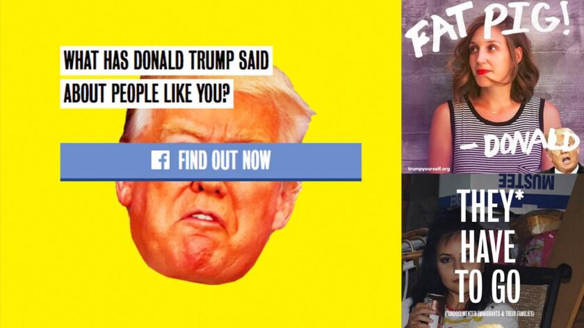 A través de #TrumpYourself los usuarios pueden crear un avatar decorado con uno de los famosos insultos del magnate, los cuales varían dependiendo de la nacionalidad de la persona, su color de piel y hasta sus preferencias sexuales