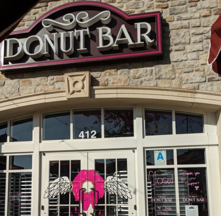 The Donut Bar that opened in Chula Vista in June abrutply closed five months later.
