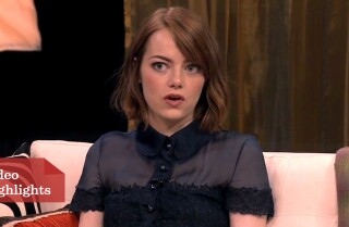 Oscar Round Table: Emma Stone on rehearsing