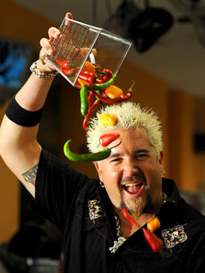 FOOD DUDE: Fieri will cook on stage with a DJ playing music and a mixologist manning a margarita machine.