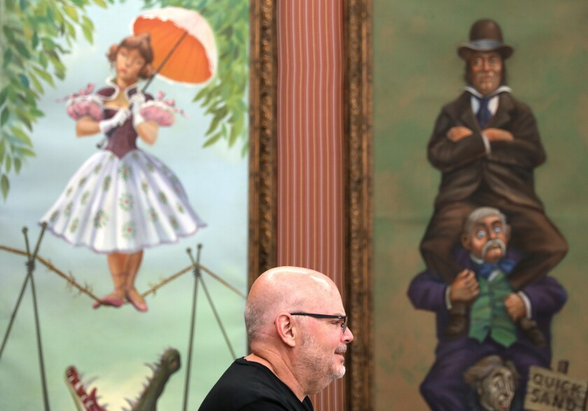 SHERIDAN OAKS-CA-AUGUST 6, 2018: Mike Van Eaton, co-founder of Van Eaton Gallery, which is auctionin