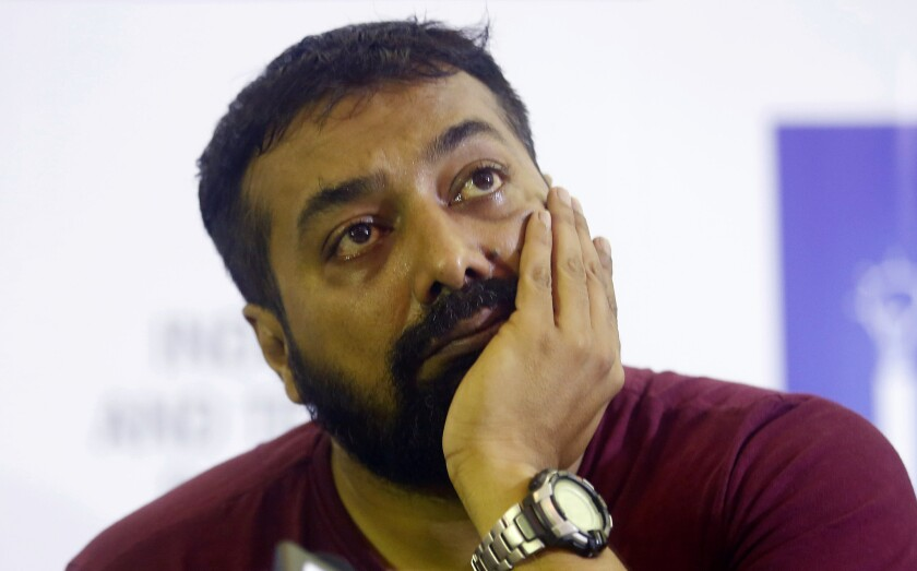 Bollywood producer Anurag Kashyap attends a news conference in Mumbai, India, on June 8, 2016.
