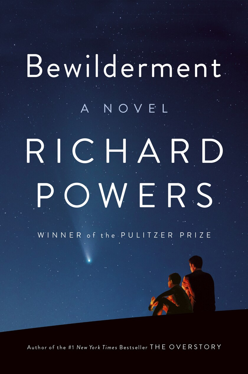 """This book cover image released by W.W. Norton shows """"Bewilderment,"""" a novel by Richard Powers. (W.W. Norton via AP)"""
