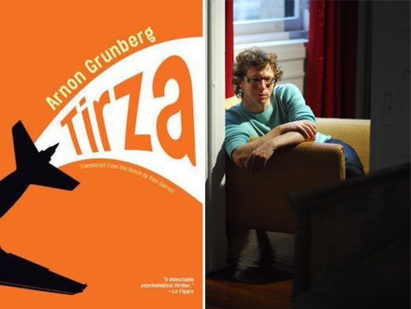 The cover of 'Tirza' and author Arnon Grunberg.