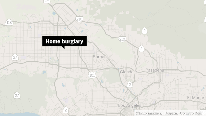 The vandalism was reported at a home in the 7400 block of Vista Del Monte Avenue in Van Nuys.