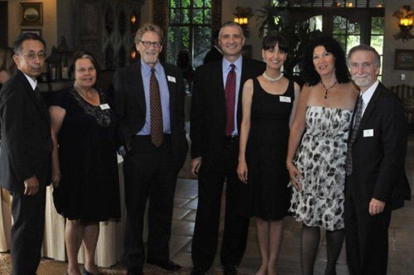 Ambassadors Bob Nouchi, Rosemary Geiszler, Richard Cone, Chris and Elizabeth Pericles, Susan and Steven Hunt