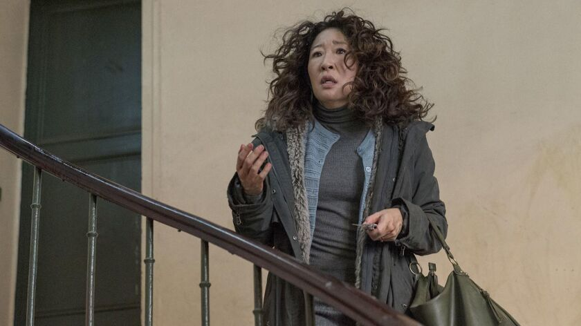 """Sandra Oh in BBC America's """"Killing Eve."""""""