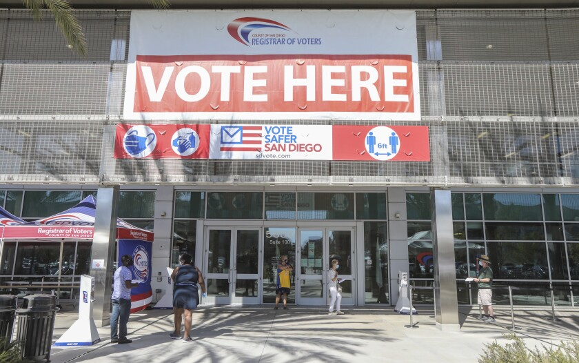 The entrance to the Registrar of Voters Office.