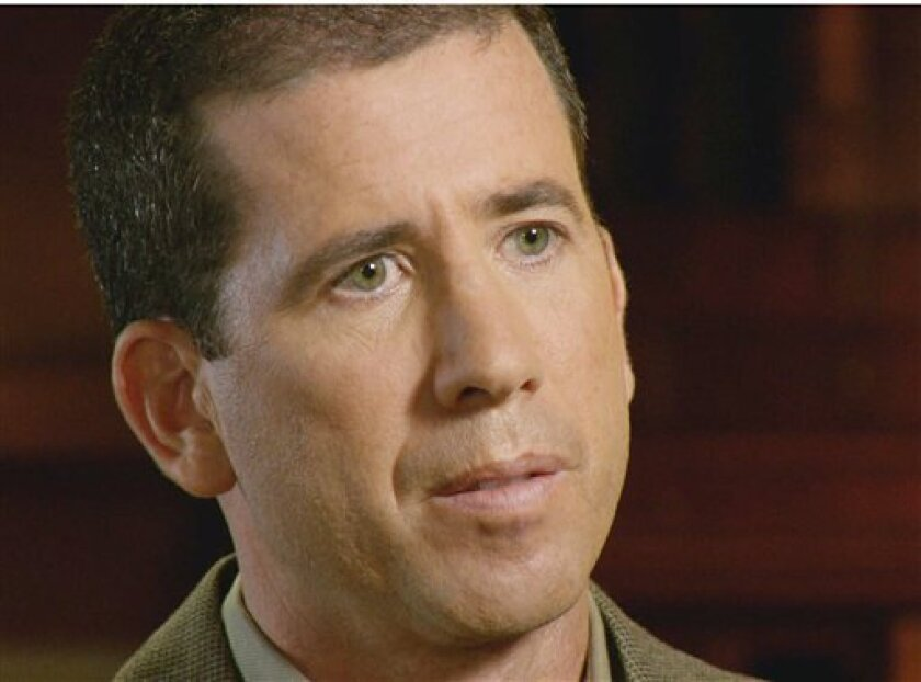 """In this image taken from video and released by CBS, former NBA basketball referee Tim Donaghy is seen during a interview in Florida with Bob Simon of """"60 Minutes."""" The interview airs Sunday, Dec. 6, 0n CBS. (AP Photo/CBS News)"""