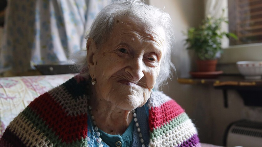 Emma Morano in 2015, then 115 years old.