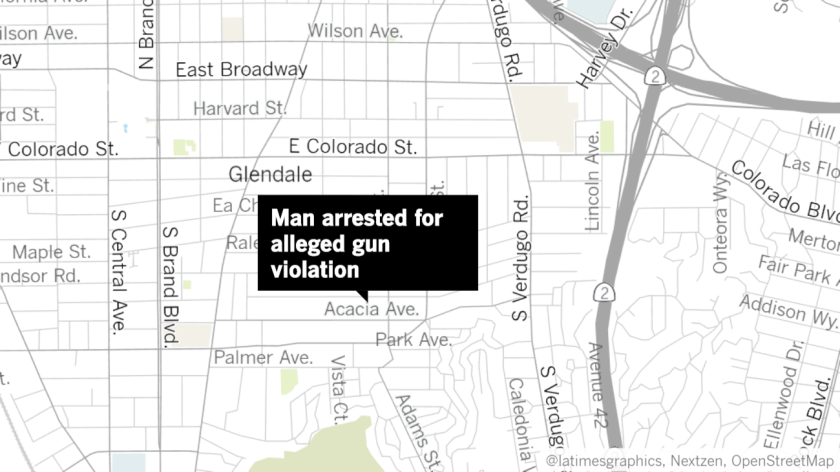 A 23-year-old Glendale man was arrested by police in late March for an alleged gun violation after police detained a group he was reportedly a part of because they were not socially distancing from one another.