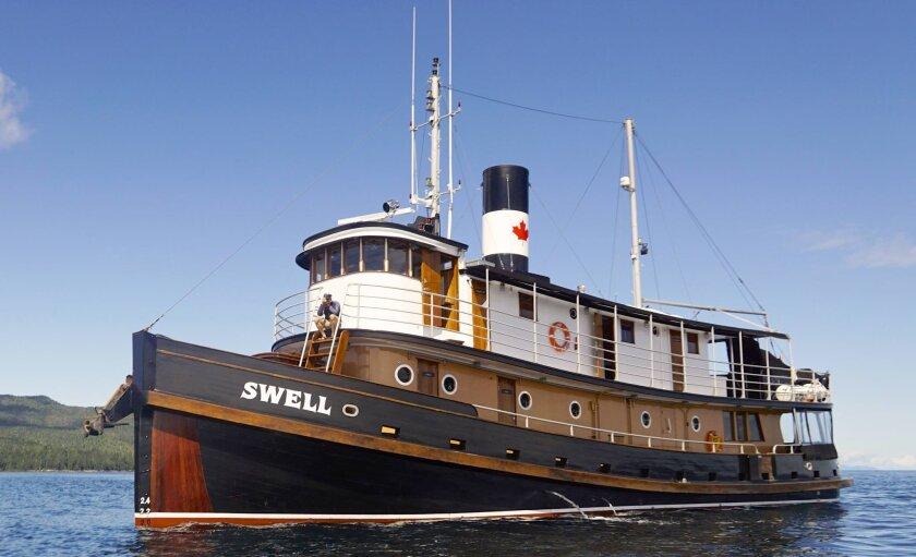 Maple Leaf Adventures' MV Swell in British Columbia's Haida Gwaii.