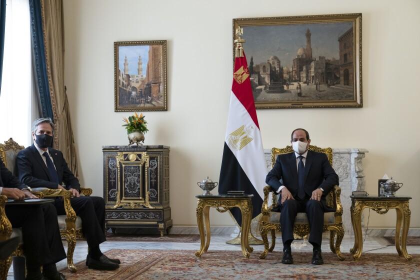 Secretary of State Antony Blinken meets with Egyptian President Abdel Fattah Sisi