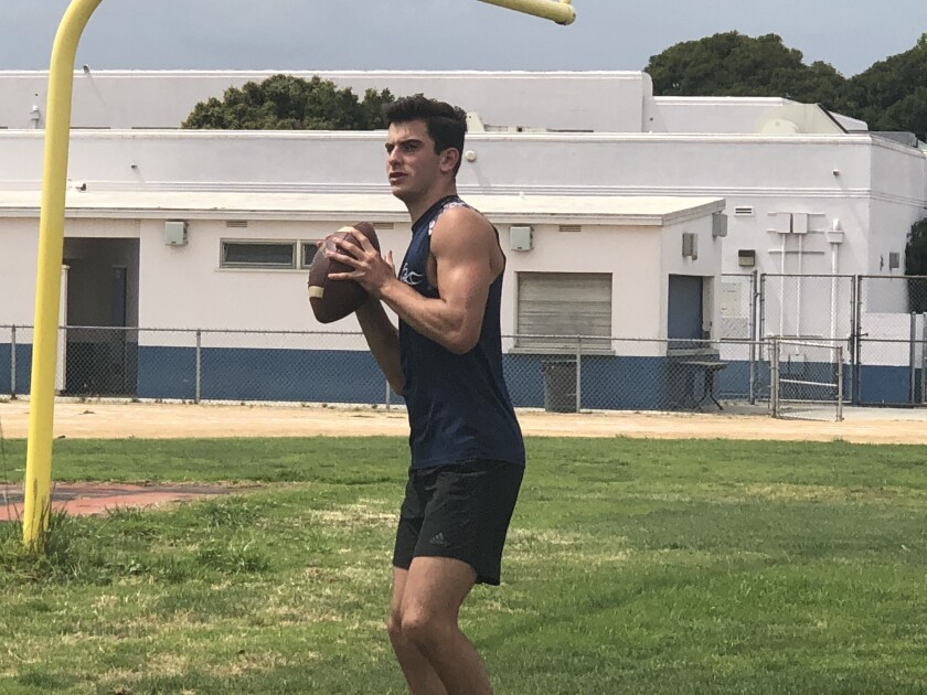Venice All-City quarterback Luca Diamont is trying to lead his team to its first City title.