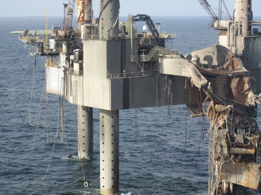 Officials working to secure natural gas rig off Louisiana coast