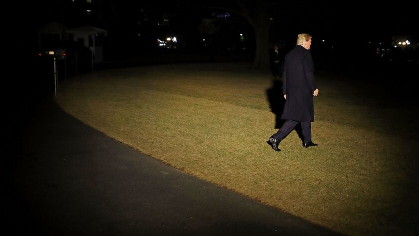 President Trump Departs The White House En Route To Davos, Switzerland