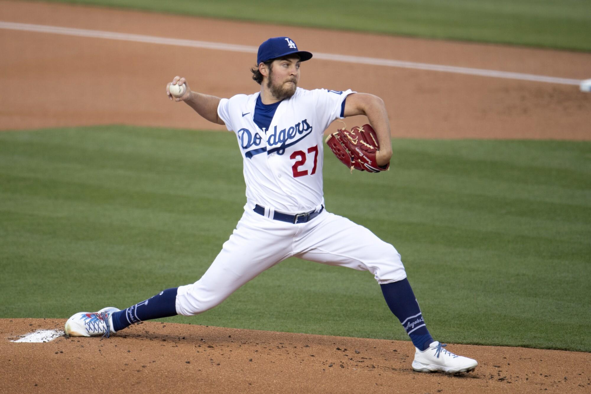 Dodgers pitcher Trevor Bauer