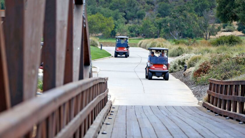 Journey, at Pechanga Resort & Casino, features wooden bridges that span a wide wash on the course.