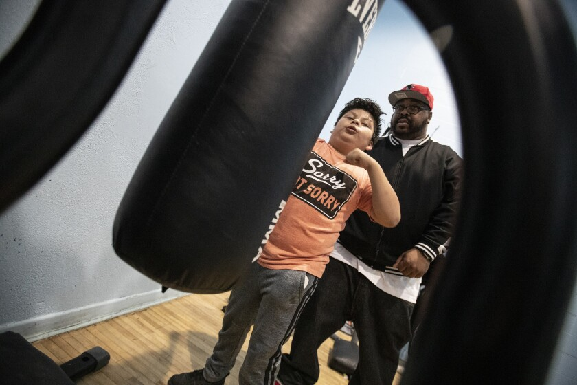 Boxing program at Nickerson Gardens