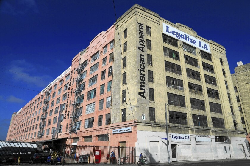 American Apparel says it has hired advisory firm Peter J. Solomon Co. to ensure it has access to affordable capital. Above, the company's Los Angeles office building.
