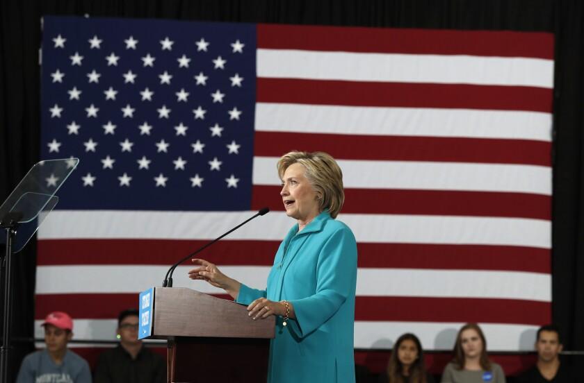 Hillary Clinton en un evento de campaña en Reno, Nevada el 25 de agosto del 2016. (AP Photo/Carolyn Kaster)
