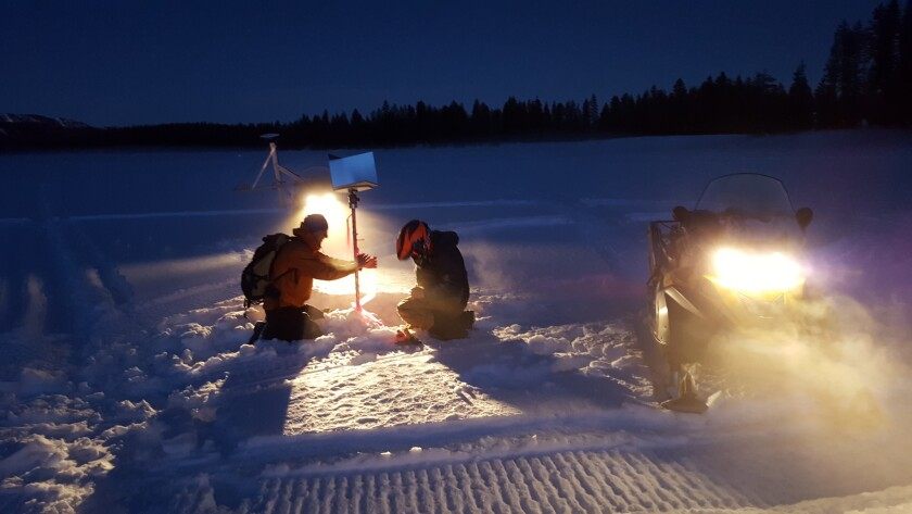 Measuring the snowpack goes high-tech with airborne lasers