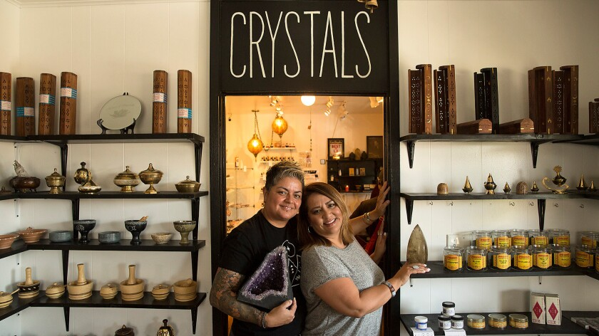 Alex Naranjo (left) and Marlene Vargas opened the House of Intuition in Echo Park six years ago.