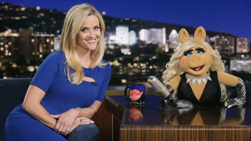 """Reese Witherspoon and Miss Piggy in """"The Muppets"""" on ABC."""