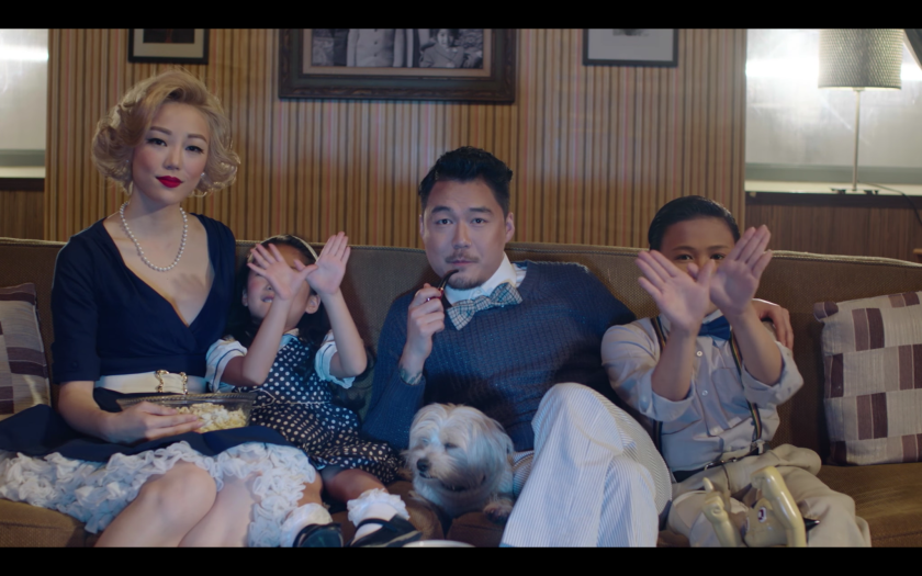 It's family movie time in Dumbfoundead's video.