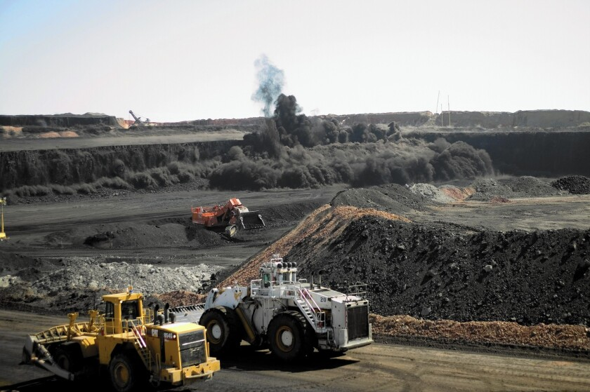 The Buckskin coal mine in Wyoming's Powder River Basin, one of the world's most profitable sources of fossil fuels.