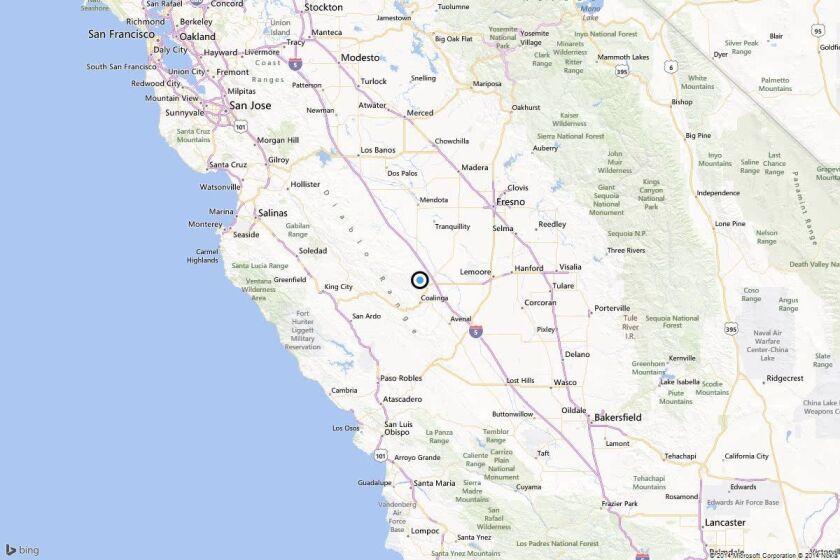 Earthquake: 3.0 quake strikes near Coalinga, California