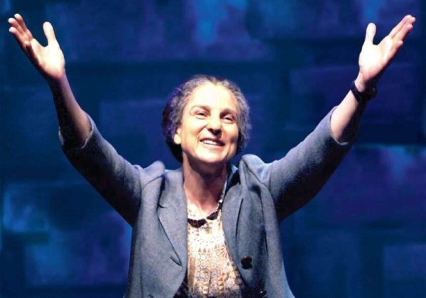 """Tovah Feldshuh as Golda Meir in """"Golda's Balcony"""" by William Gibson, at The Old Globe, April 28-May 30, 2010."""