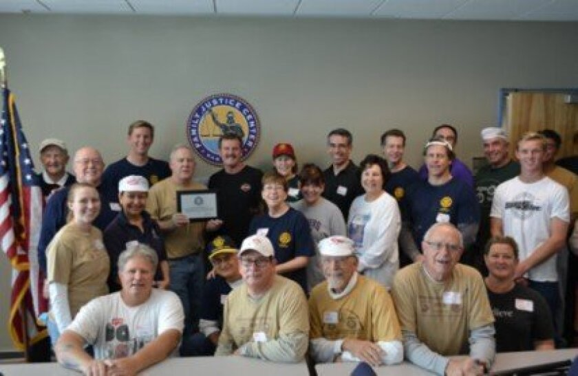 La Jolla Golden Triangle Rotary Club at the newly spruced-up Family Justice Center in downtown San Diego.  Courtesy