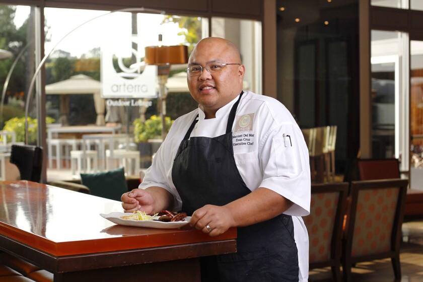 Evan Cruz is the executive chef at Arterra Restaurant at the San Diego Marriott Del Mar. (K.C. Alfred/U-T)