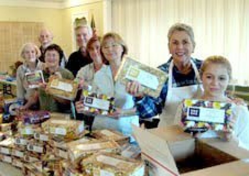 For the third year the Rancho Santa Fe Garden Club is coordinating a community-wide event to send care packages to U.S. troops.
